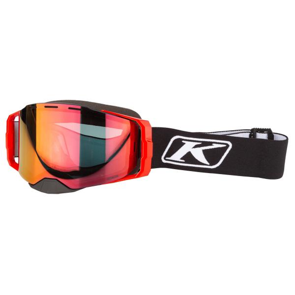 Мотоочки кроссовые KLIM Edge Focus Black Smoke Tint Red Mirror