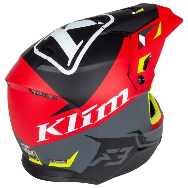 Мотошлем KLIM F3 ECE Tectonic High Risk Red