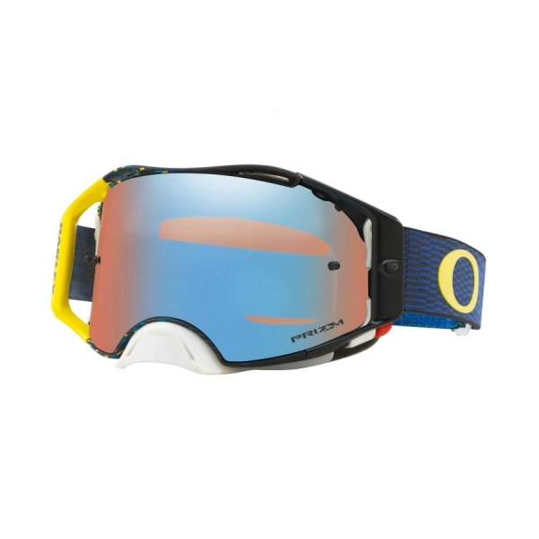Oakley Airbrake MX Equalizer Blue Yellow / Prizm