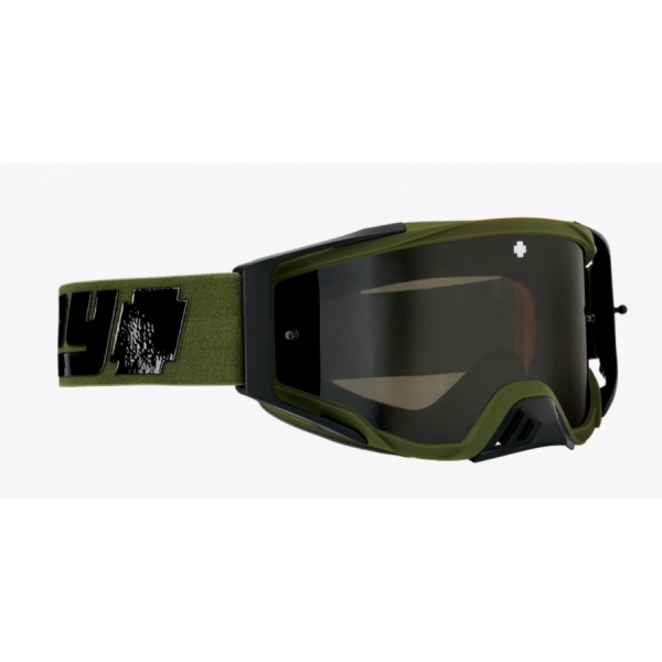 Motocroos goggles SPY+Foundation Plus Reverb Olive - HD Smoke with Black Spectra Mirror - HD Clear