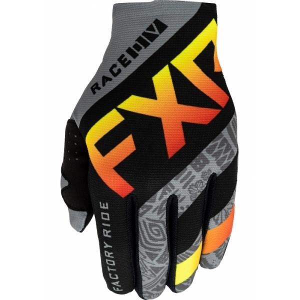 Мотоперчатки FXR Slip-On Lite MX 21-Grey Aztec/Black/Red/Hi Vis