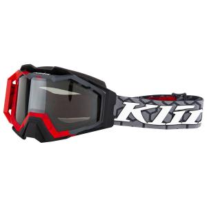 Мотоочки кроссовые KLIM Viper Pro Snow Hive Red Smoke Polarized