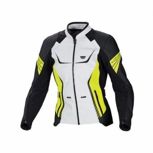 Мотокуртка женская Macna Orient White/Black/Neon Yellow