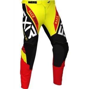 Мотоштаны детские FXR Yth Pro-Stretch MX 21-Yellow/Black/Red