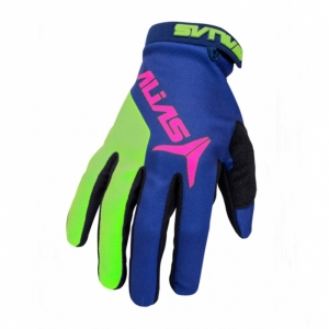 Мотоперчатки ALIAS AKA BLUE/NEON GREEN